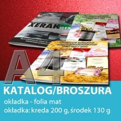 Katalog A4, 24 strony: 4+20, okładka folia mat, papier: okładka 200 g, środek 130 g