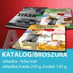 Katalog A4, 24 strony: 4+20, okładka folia mat, papier: okładka 250 g, środek 130 g