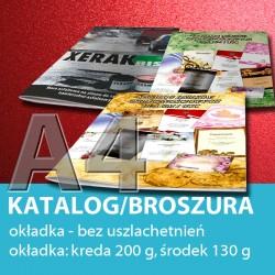 Katalog A4, 24 strony: 4+20, okładka bez uszlachetnień, papier: okładka 200 g, środek 130 g