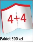Katalog A4, ilość stron: 8, zszywanie po dłuższym boku, nakład 500 szt