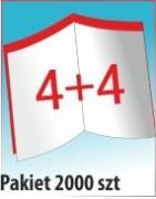 Katalog A4, 8 stron, zszywanie po dłuższym boku, nakład 2000 szt