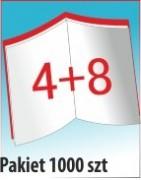 Katalog A4, 12 stron, zszywanie po dłuższym boku, nakład 1000 szt