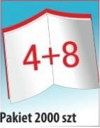 Katalog A4, 12 stron, zszywanie po dłuższym boku, nakład 2000 szt