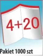 Katalog A4, 24 stron, zszywanie po dłuższym boku, nakład 1000 szt