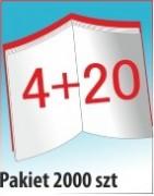 Katalog A4, 24 stron, zszywanie po dłuższym boku, nakład 2000 szt