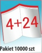 Katalog A4, 28 stron, zszywanie po dłuższym boku, nakład 10000 szt
