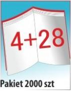 Katalog A4, 32 stron, zszywanie po dłuższym boku, nakład 2000 szt