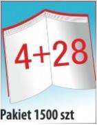 Katalog A4, 32 stron, zszywanie po dłuższym boku, nakład 1500 szt
