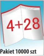 Katalog A4, 32 stron, zszywanie po dłuższym boku, nakład 10000 szt