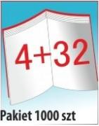 Katalog A4, 36 stron, zszywanie po dłuższym boku, nakład 1000 szt