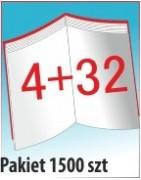 Katalog A4, 36 stron, zszywanie po dłuższym boku, nakład 1500 szt