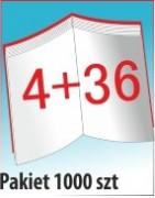 Katalog A4, 40 stron, zszywanie po dłuższym boku, nakład 1000 szt