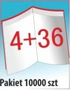 Katalog A4, 40 stron, zszywanie po dłuższym boku, nakład 10000 szt